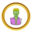 Halloween zombie icon vector image