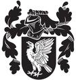 heraldic silhouette No13 vector image vector image