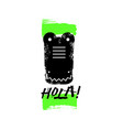hola slogan graphic with alligator sign vector image vector image