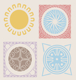 indian spring elements collection vector image vector image