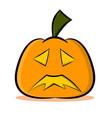 jack o lantern pumpkin face vector image vector image