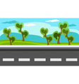 Landscape with forest and road vector image