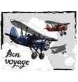 lets travel concept retro vector image vector image