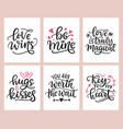 love lettering romantic invitation card design vector image vector image