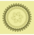 Mandala with hop floral ornament vector image vector image