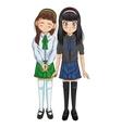 Manga cartoon girl design vector image vector image
