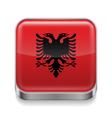 Metal icon of Albania vector image vector image