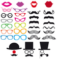 mustache and spectacles design elements vector image vector image