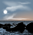 Nature background sea stones during dusk vector image vector image