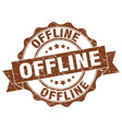 offline stamp sign seal vector image vector image