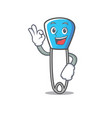 okay safety pin character cartoon vector image