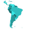political map of south america simple flat blank