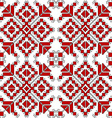Red and black ethnic ornaments over white vector image vector image
