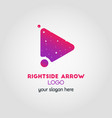 right arrow business logo template using double vector image vector image