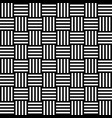 seamless pattern with black white straight striped vector image vector image