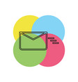 sending mail or message icon envelope vector image