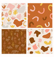 set abstract patterns with hand drawn abstract vector image vector image