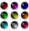 Set of glossy buttons for icons vector image vector image