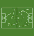 soccer field strategy game tactic football vector image vector image