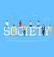 society modern people in a flat style vector image vector image