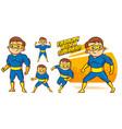 superhero character superheroes set vector image vector image