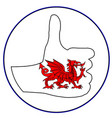 thumbs up wales vector image vector image
