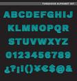 turquoise alphabet set vector image vector image