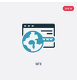 two color site icon from seo web concept vector image vector image