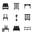 Type of furniture icons set simple style vector image vector image
