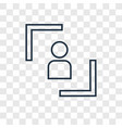 user concept linear icon isolated on transparent vector image