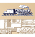 vintage train vector image vector image