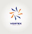 vortex logo design symbol icon vector image vector image