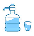 water delivery service clean liquid in bottle and vector image