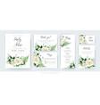 watercolor floral wedding set invite card menu vector image vector image
