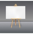 wooden tripod with a white sheet paper vector image vector image