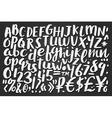 Handwritten brush letters symbols numbers vector image