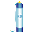 Oxygen cylinder vector image