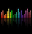 digital colorful equalizer sound waves abstract vector image