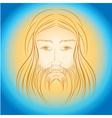 Jesus Christ shine light gloride rays vector image