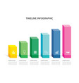 6 data infographics rectangle step growth success vector image vector image