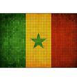 Abstract mosaic flag of Senegal vector image vector image