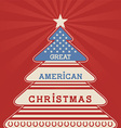 american christmas tree poster vector image