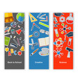 back to school set of banners concept education vector image