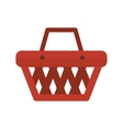 basket shopping object vector image vector image
