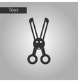 black and white style toy scissors vector image vector image