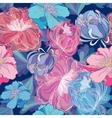 Blue Romantic Floral Pattern vector image vector image