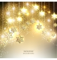 christmas background with luminous garland vector image vector image