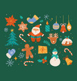 christmas decorative collection cute vector image vector image