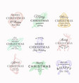 classy merry christmas and happy new year abstract vector image vector image