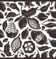 cocoa set nature seamless pattern vector image vector image
